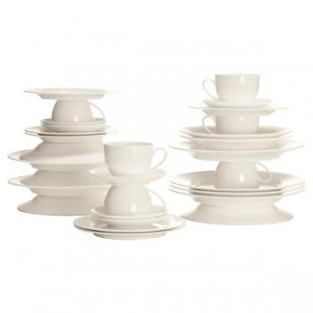 30 tlg kaffee und tafelservice cashmere round wei. Black Bedroom Furniture Sets. Home Design Ideas
