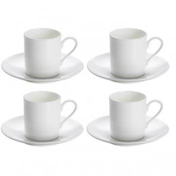 4er set espressotassen mit untertasse cashmere round wei maxwell williams. Black Bedroom Furniture Sets. Home Design Ideas