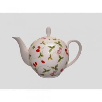 teekanne mirella erdbeeren f r1 liter wei rot porzellan tealogic. Black Bedroom Furniture Sets. Home Design Ideas