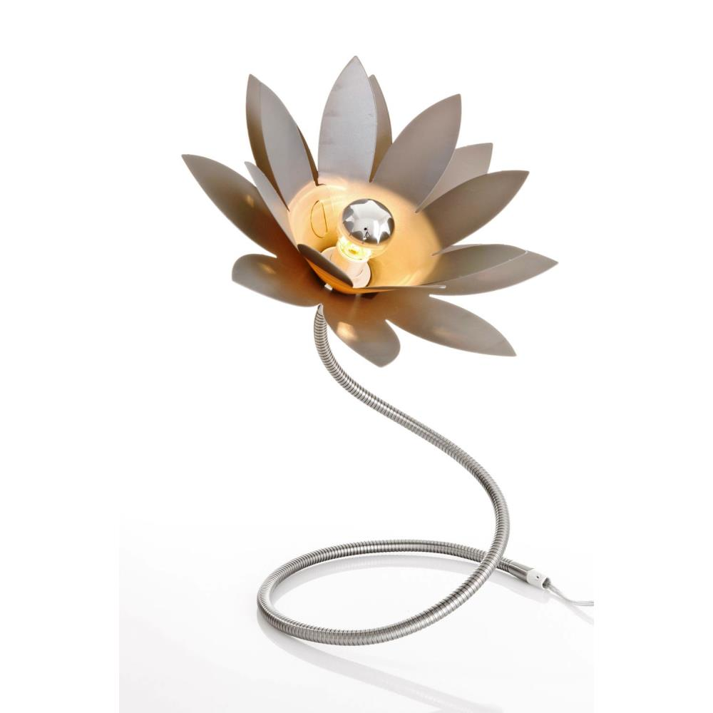 tischlampe leuchte lotus blume mit beweglichem fuss l nge ca 1 m lavinia ebay. Black Bedroom Furniture Sets. Home Design Ideas