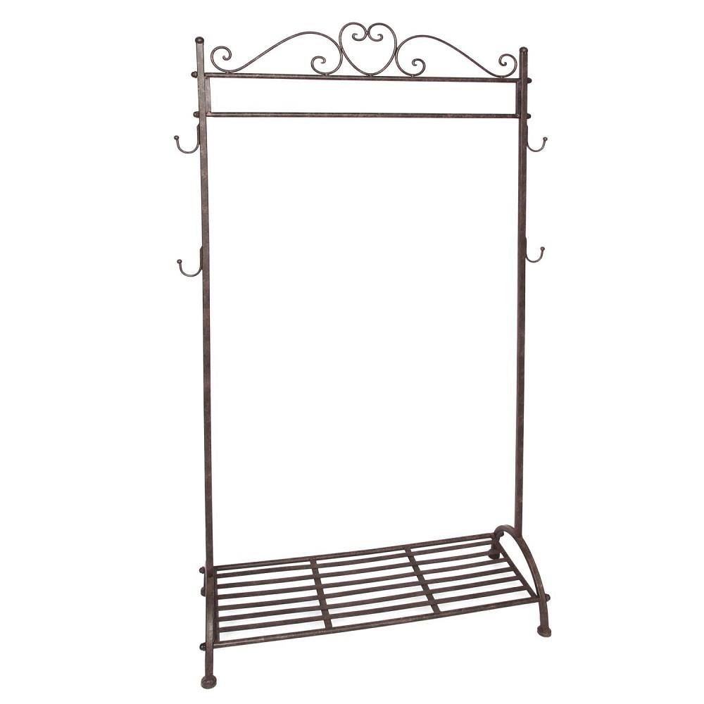 garderobenst nder kleiderstange antikbraun h 162cm b. Black Bedroom Furniture Sets. Home Design Ideas