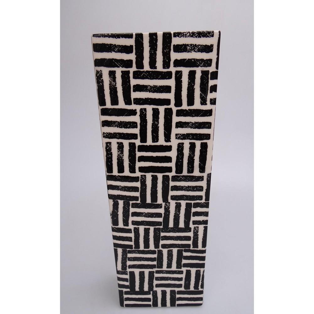vase dekovase network keramik schwarz wei h 47cm casablanca ebay. Black Bedroom Furniture Sets. Home Design Ideas