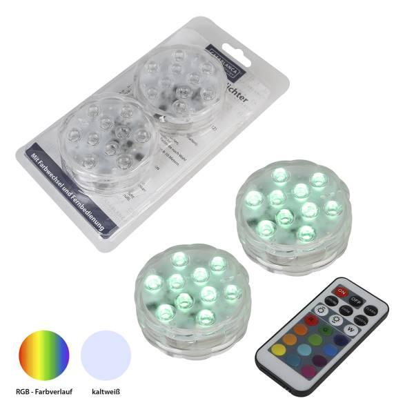 LED Maxi Teelichter weiß 2er Set