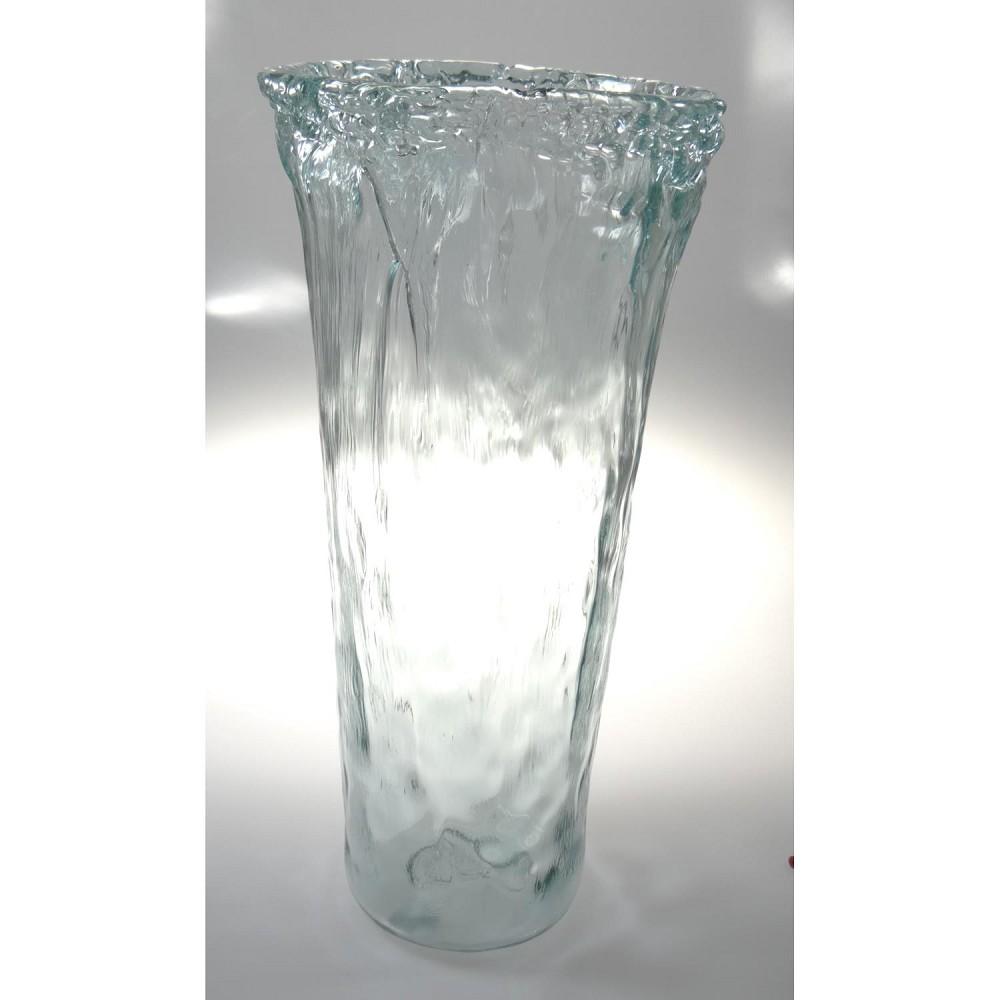 bodenvase dekoglas eiszapfen florero glas h 50cm d 24cm casablanca ebay. Black Bedroom Furniture Sets. Home Design Ideas