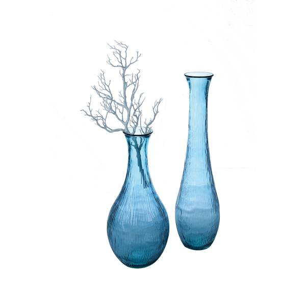 bodenvase glasvase bodega h 100cm d 26cm blau glas. Black Bedroom Furniture Sets. Home Design Ideas