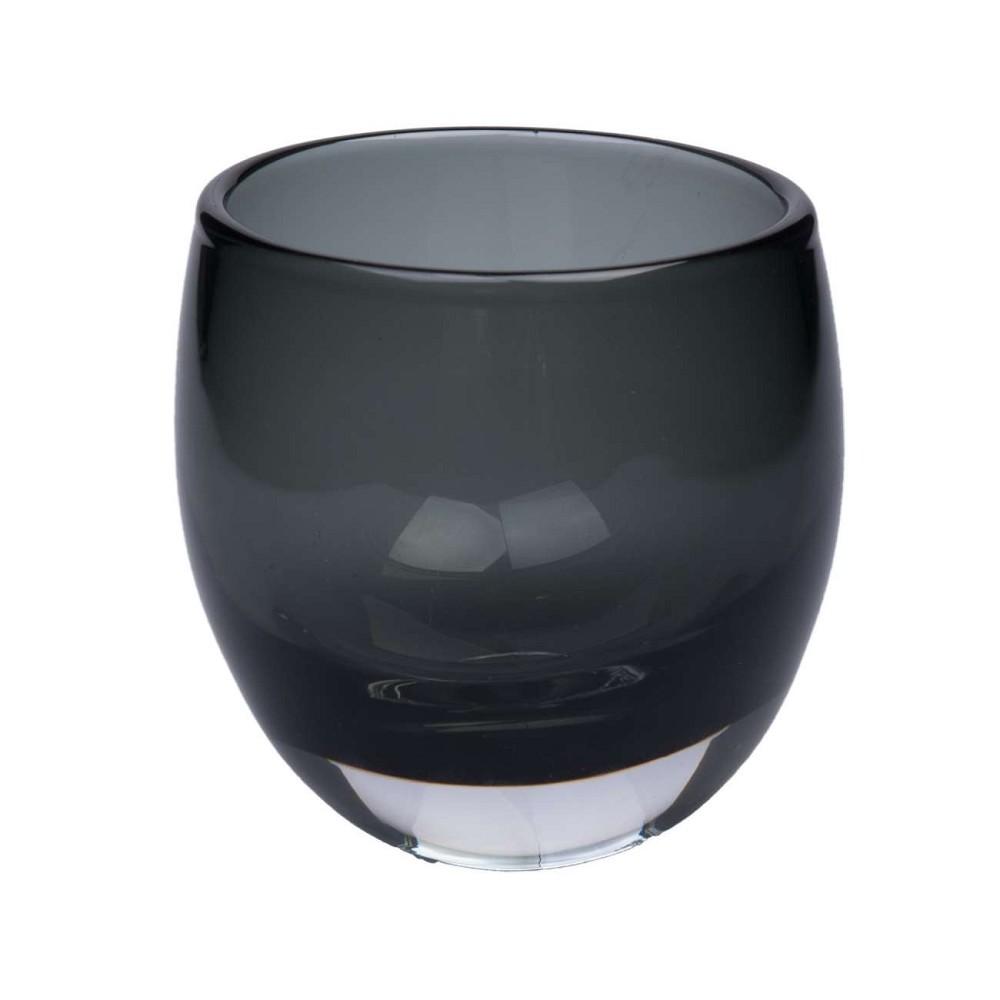 teelichthalter vase black h 9cm d 7cm glas schwarz hendriks deko ebay. Black Bedroom Furniture Sets. Home Design Ideas