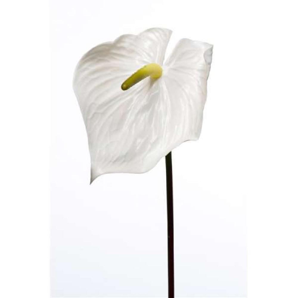 kunstblume anthurium k nstliche anthurie flamingoblume wei h 80cm emerald ebay. Black Bedroom Furniture Sets. Home Design Ideas