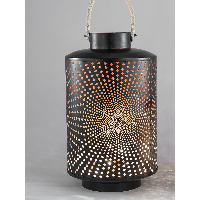 laterne windlicht kreise mit henkel metall schwarz rund h 52 cm formano wa ebay. Black Bedroom Furniture Sets. Home Design Ideas