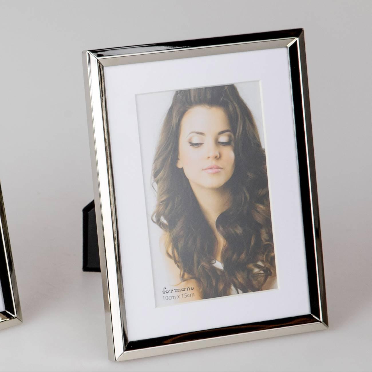 Fotorahmen, Bilderrahmen SILVER für 10x15cm silber glänzend Metall ...