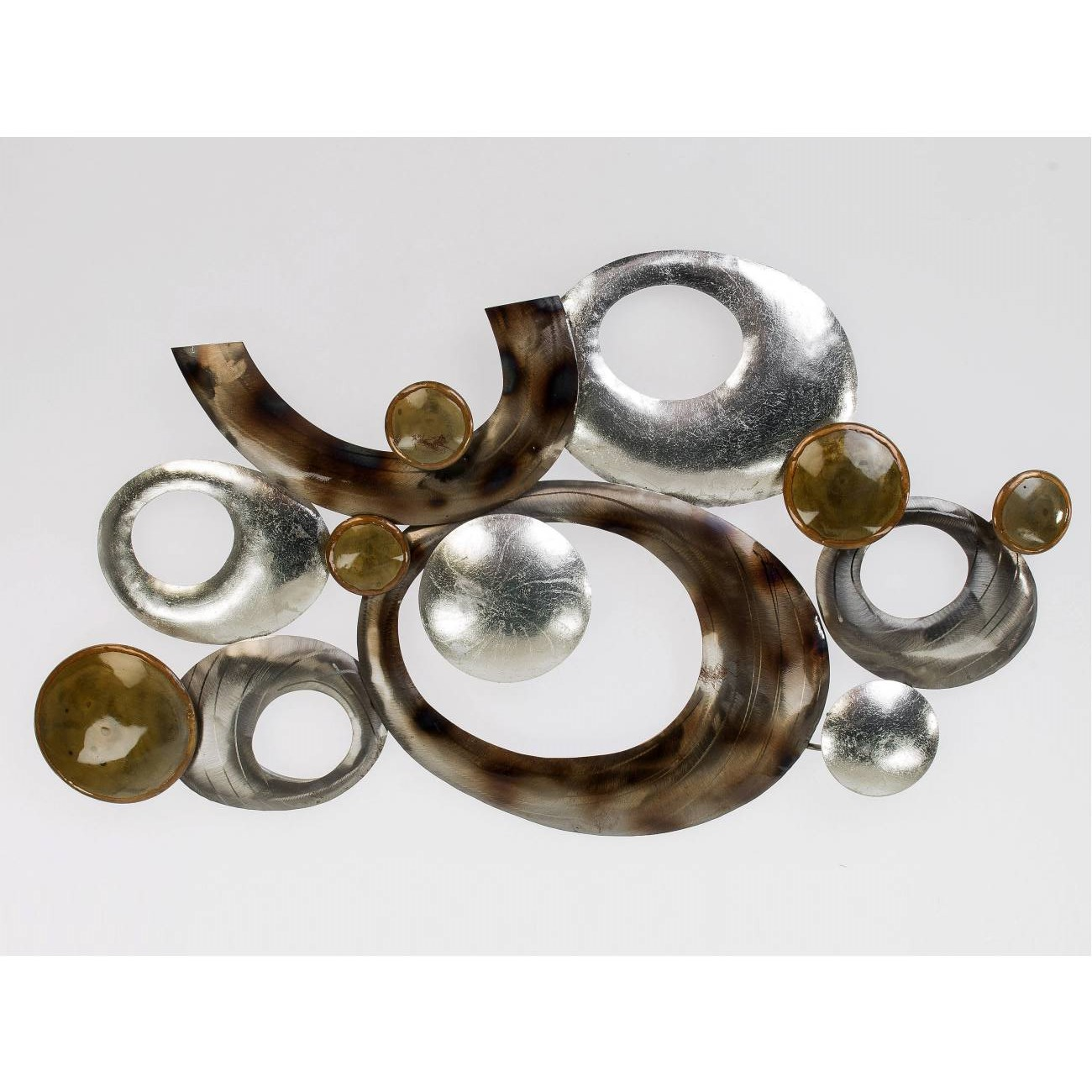 wandbild wanddeko design art monde 68x38cm metall braun. Black Bedroom Furniture Sets. Home Design Ideas