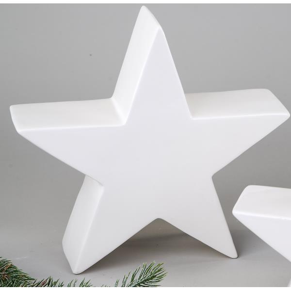 dekoobjekt weihnachten stern dekostern keramik wei 23. Black Bedroom Furniture Sets. Home Design Ideas