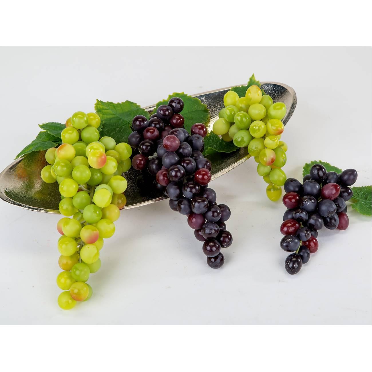künstliche Deko Weintrauben L 22cm grün Formano