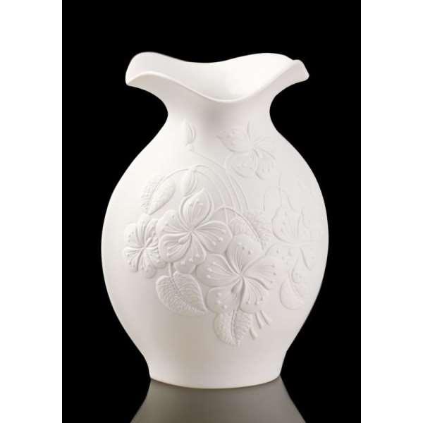 Goebel Kaiser Porzellan Flora Vase Blumenvase Dekoration Dekovase Weiß 16.5cm