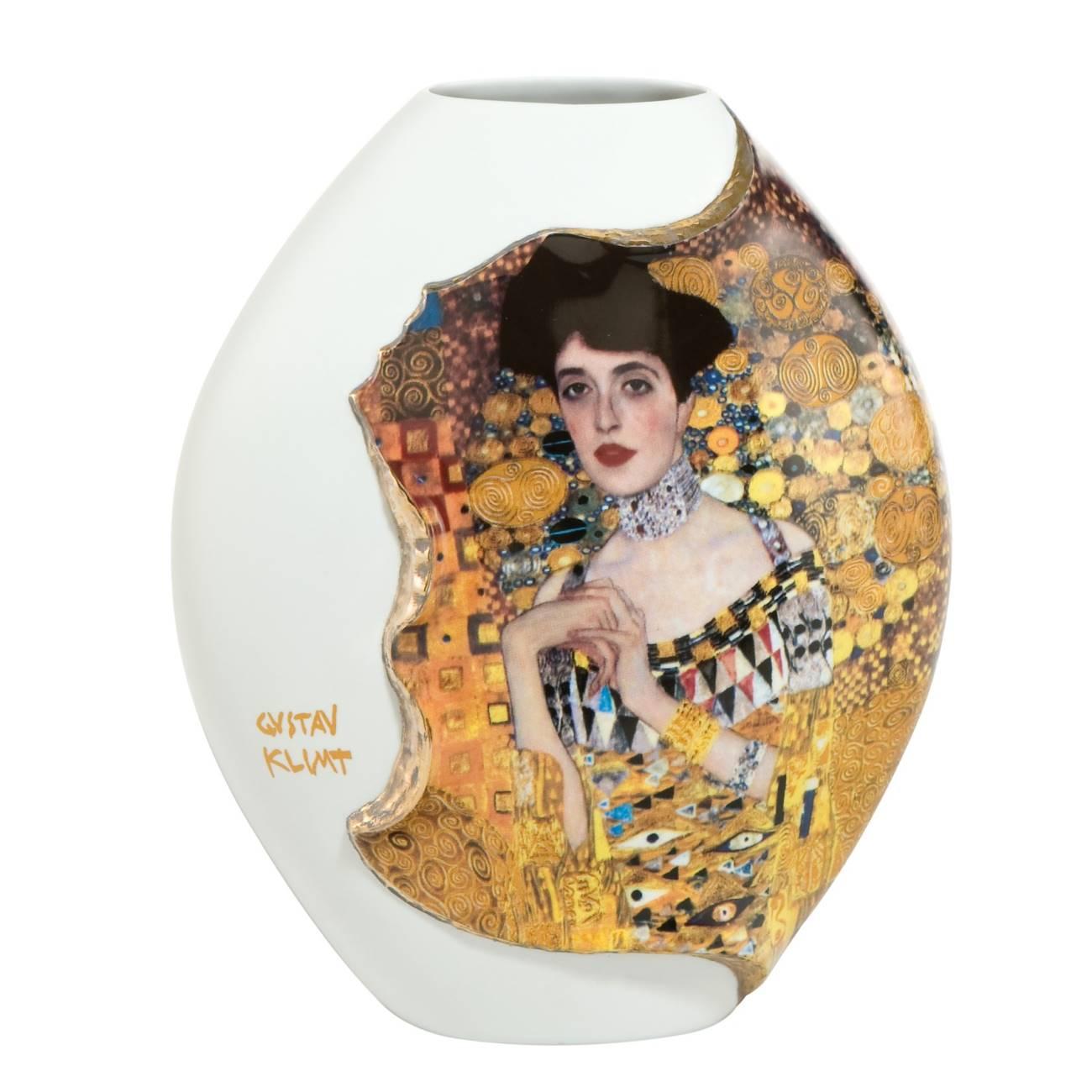Gustav Klimt Porzellanvase Adele Bloch-Bauer H 20cm weiß Gold Artis Orbis Goebel