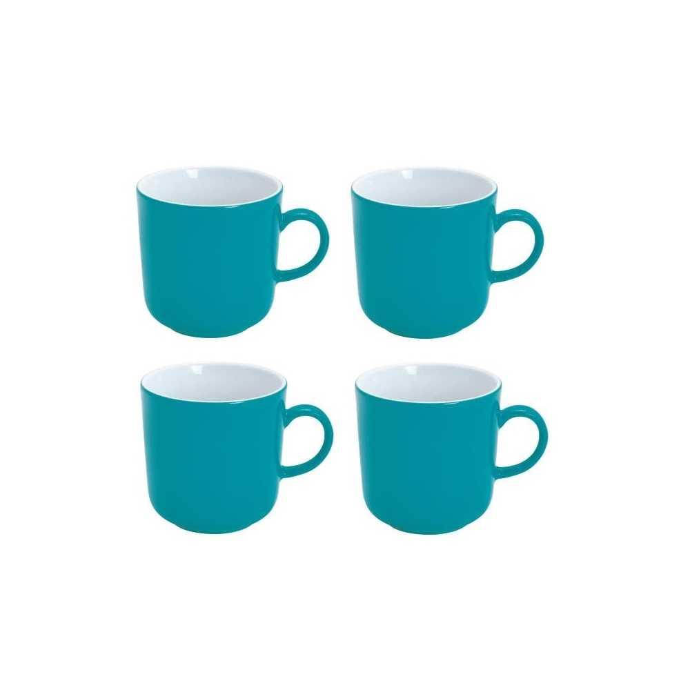 4er Set Coffee Mug 0,3l PRONTO CouleurE Petrol Porcelain Kahla