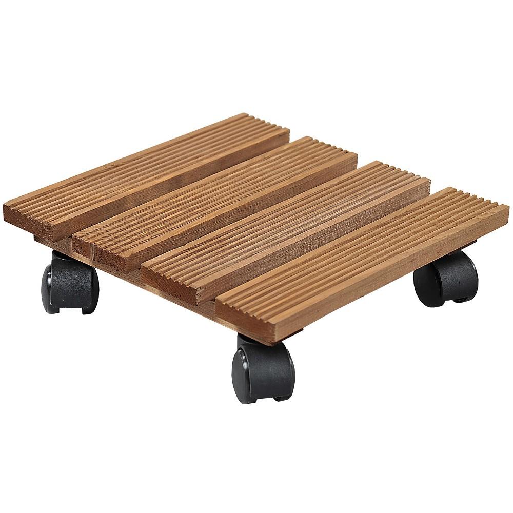 pflanzenroller quadratisch f r den au enbereich geeignet 35x35cm aus holz kesper ebay. Black Bedroom Furniture Sets. Home Design Ideas
