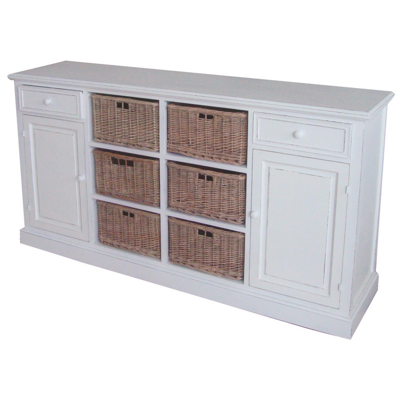 kommode mit k rben toscana wei holz 85x158x40cm. Black Bedroom Furniture Sets. Home Design Ideas