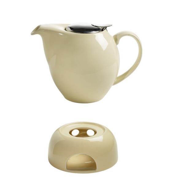 teekanne mit sieb 1l st vchen vanille creme porzellen. Black Bedroom Furniture Sets. Home Design Ideas