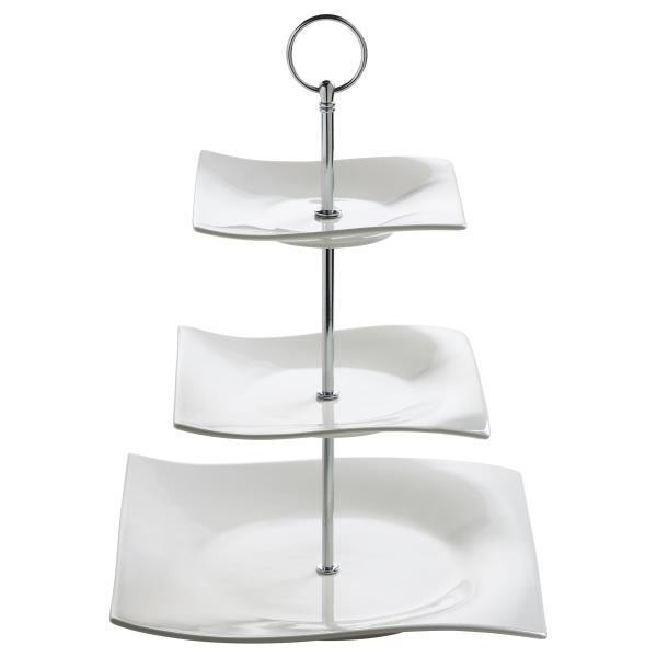 3 st ckige etagere motion h 34cm wei porzellan eckig maxwell williams ebay. Black Bedroom Furniture Sets. Home Design Ideas