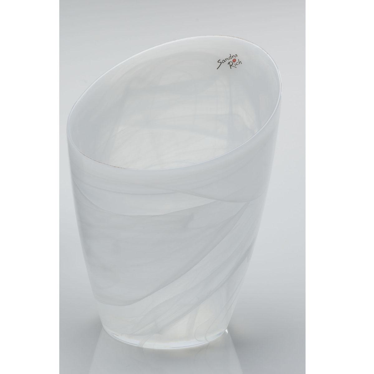 Vase glasvase blumentopf alabaster glas wei 18x15cm for Blumentopf glas