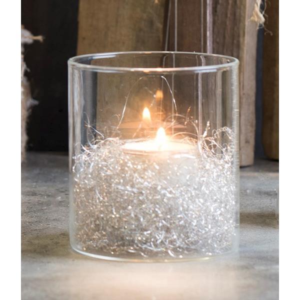 D 9cm Sandra Rich Windlicht SHINE zylindrisch rund Glas H 10cm Teelichthalter