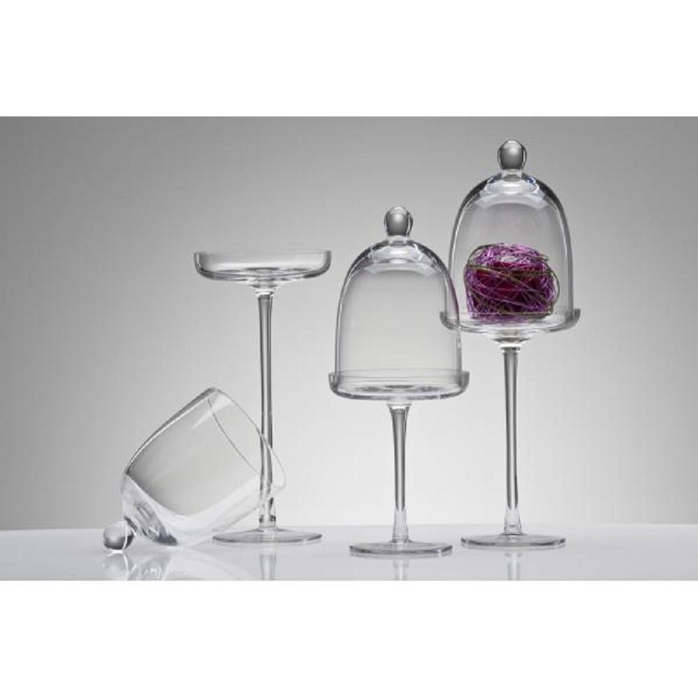 glasplatte auf fu mit glocke haube cover 30 cm 12cm rund sandra rich ebay. Black Bedroom Furniture Sets. Home Design Ideas