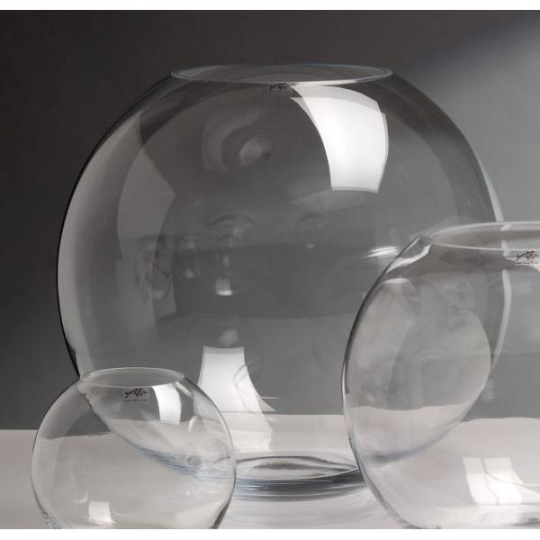 glaskugel kugelvase globe h 34cm 40cm glas transparent. Black Bedroom Furniture Sets. Home Design Ideas