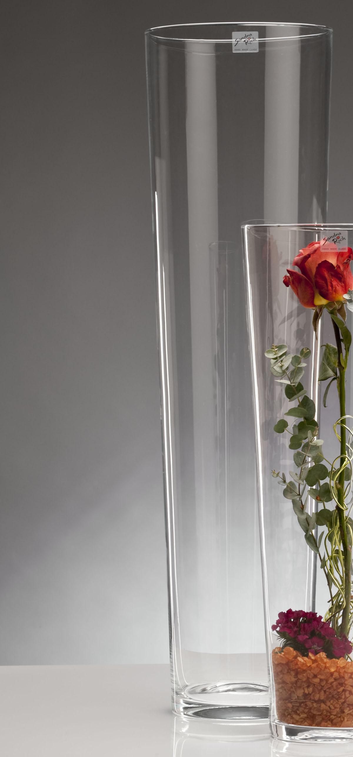 glasvase bodenvase dekoglas conical konisch rund h 70cm 19cm glas sandra rich. Black Bedroom Furniture Sets. Home Design Ideas