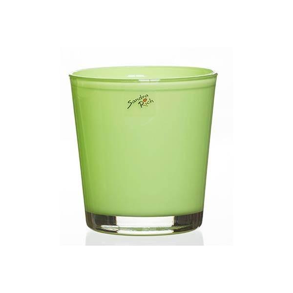 Glas orchideentopf blumentopf orchid hellgr n h 13 5cm for Blumentopf glas