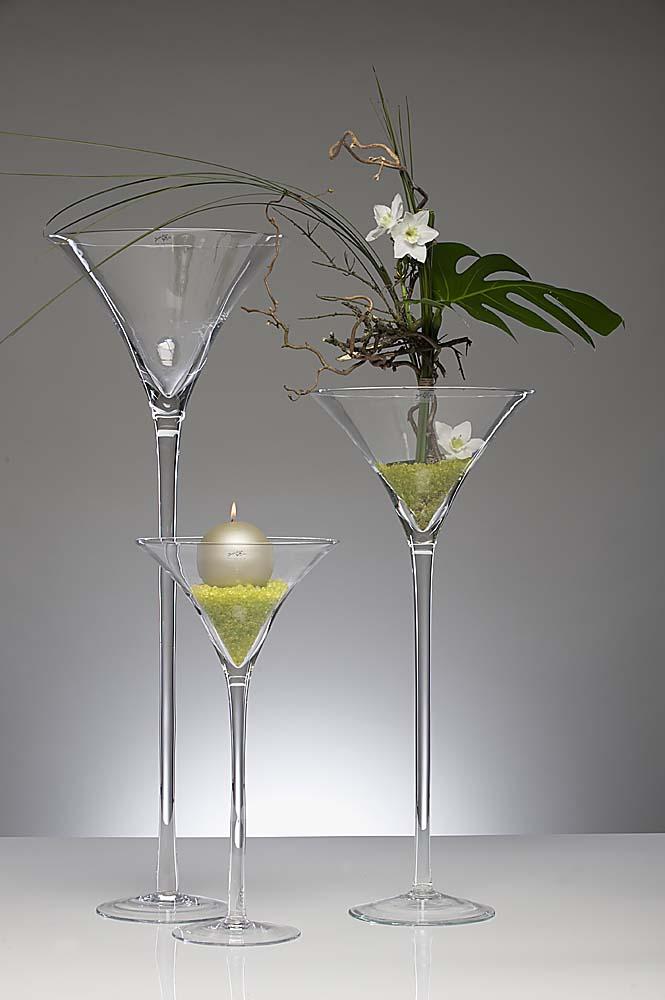 xxl martiniglas bodenvase auf fu h 50cm d 25cm transparent rund sandra rich ebay. Black Bedroom Furniture Sets. Home Design Ideas