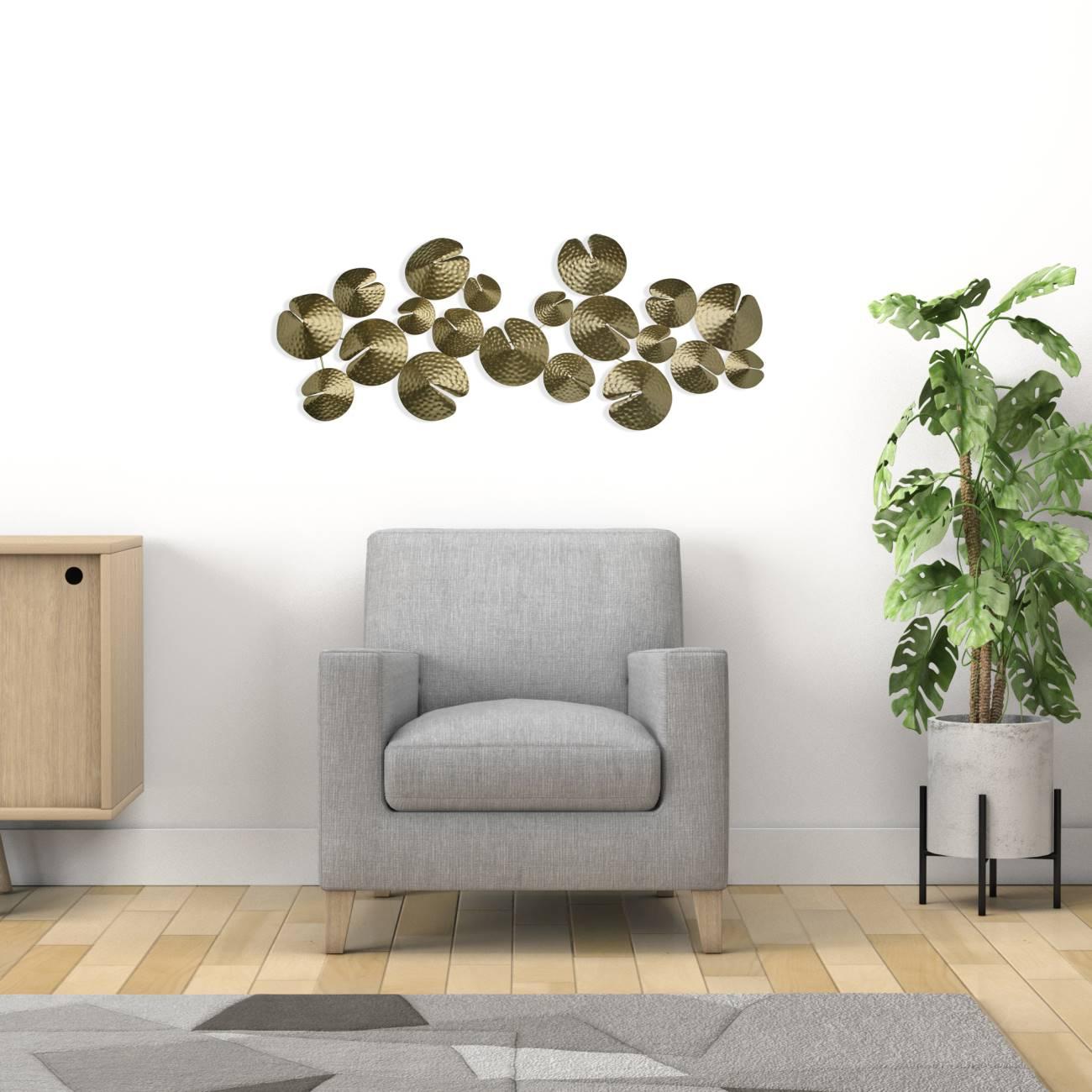 Wanddeko IUTUNA 65x51cm grau braun schwarz Metall Versa Home Wandbild