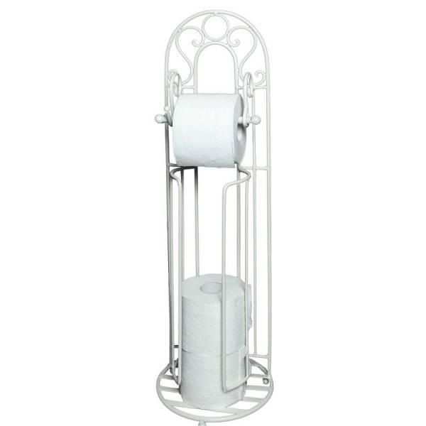 Toilettenpapierständer, Klorollenhalter INCRETO Eisen 72x21cm weiß Ambiente Haus ABH92100