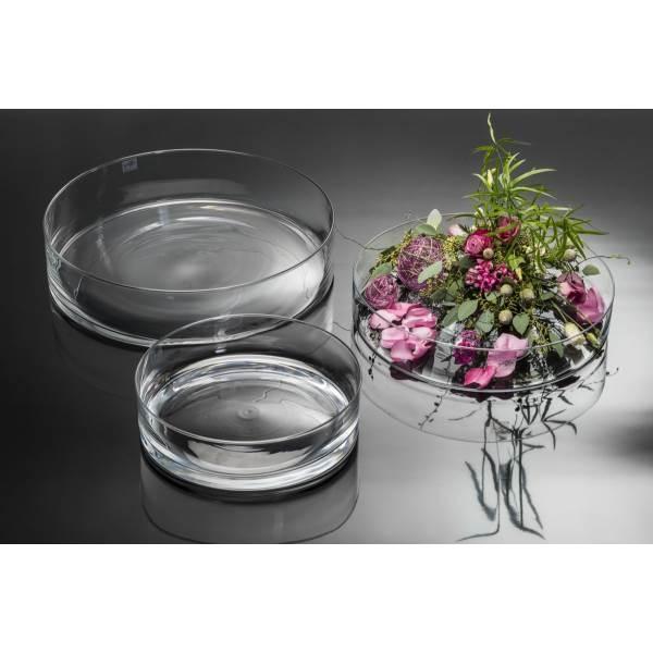 Sandra Rich GmbH Glasschale, Dekoschale CORA,flach, rund, H 8 cm Ø 39cm, transparent, Sandra Rich