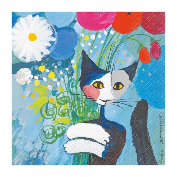 Rosina Wachtmeister Servietten For You Katzen 33x33cm Goebel