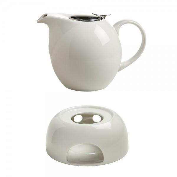 Teekanne Infusions T Mit Sieb Stövchen Für 1500ml Weiß Maxwell
