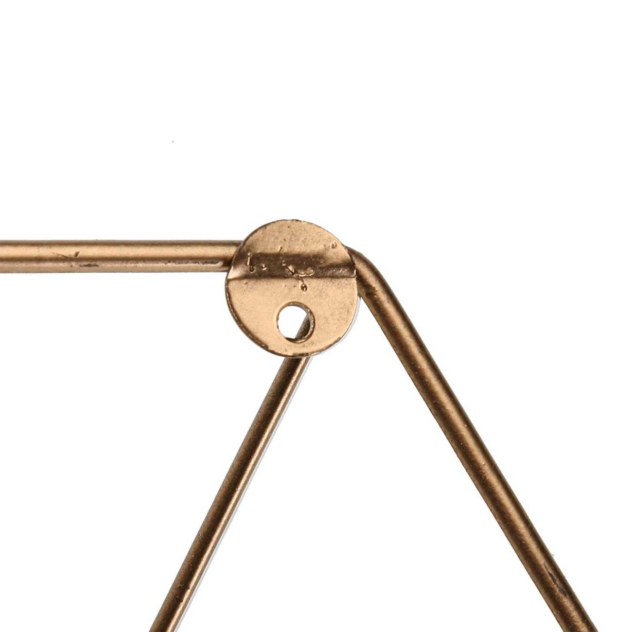 Garderobe Hakenleiste 3 Haken DIAMANT 13,5x49cm Gold Metall Versa Home