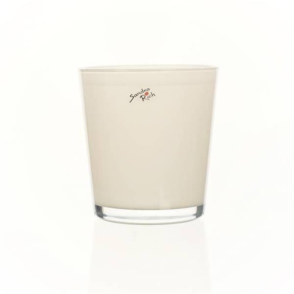 13,5cm D Glas Orchideentopf ORCHID creme weiß H 12,5cm rund Sandra Rich