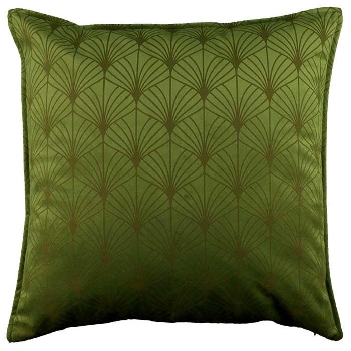 Kissenbezug ART DECO 45x45cm dark green dunkelgrün LEMETEX Kissenhülle