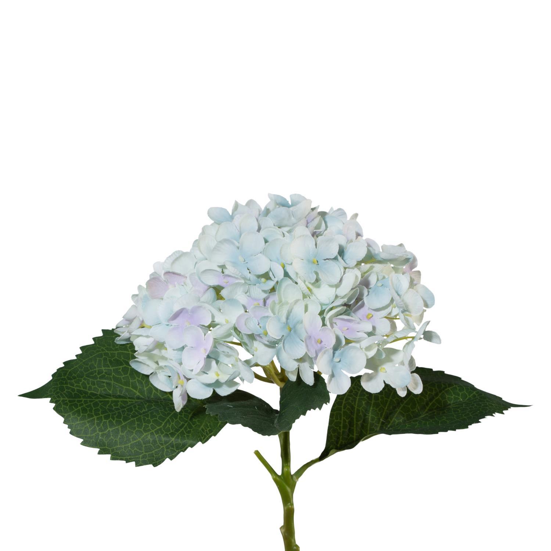 Kunstblume Hortensie Hellblau Blau H. 53cm GASPER