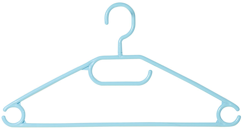 10er-Pack Schwarz Kleiderb/ügel Aus Kunststoff Kleiderb/ügel
