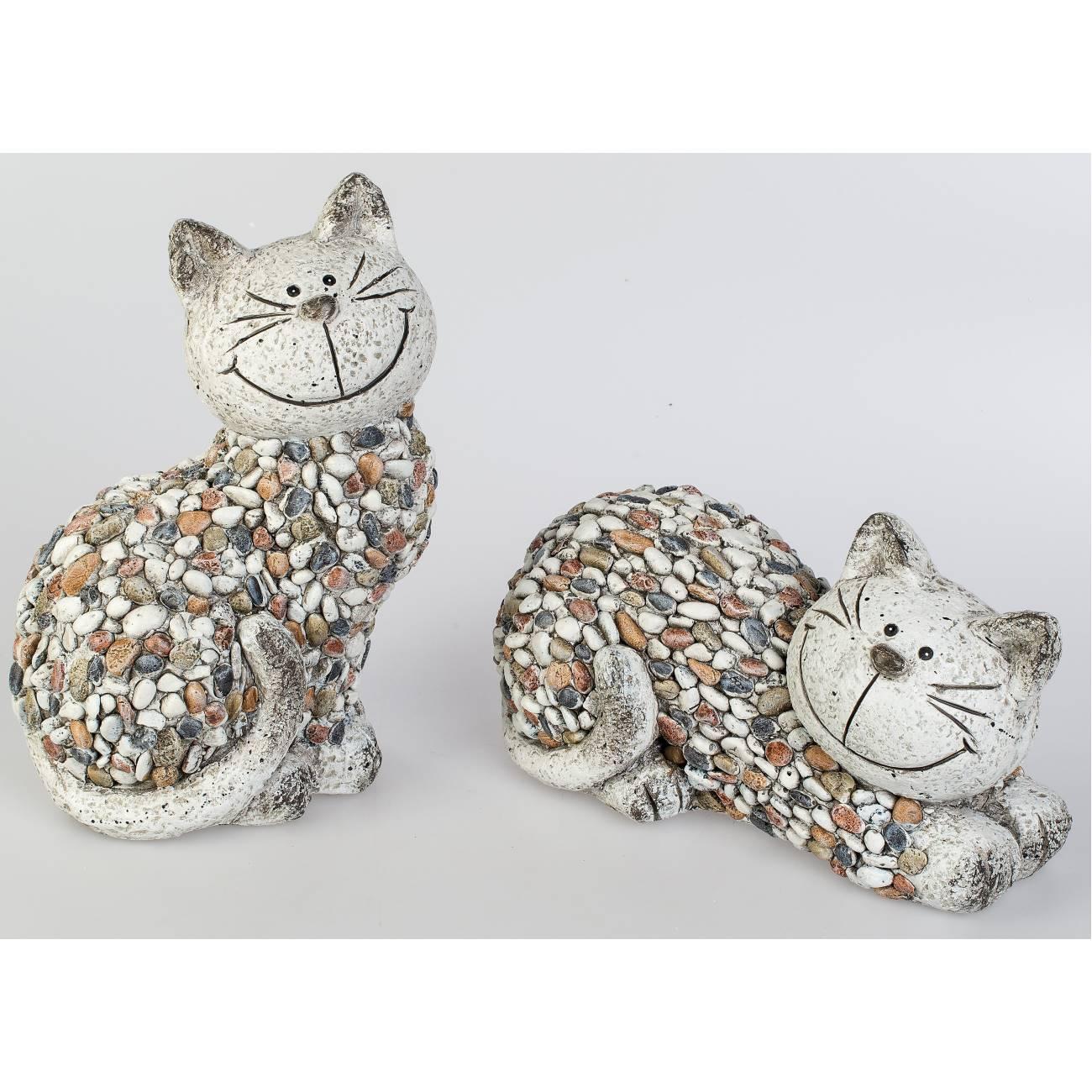 Dekofigur Katzenpaar NEU Katzenfigur cat chât Nostalgie Skulpturen