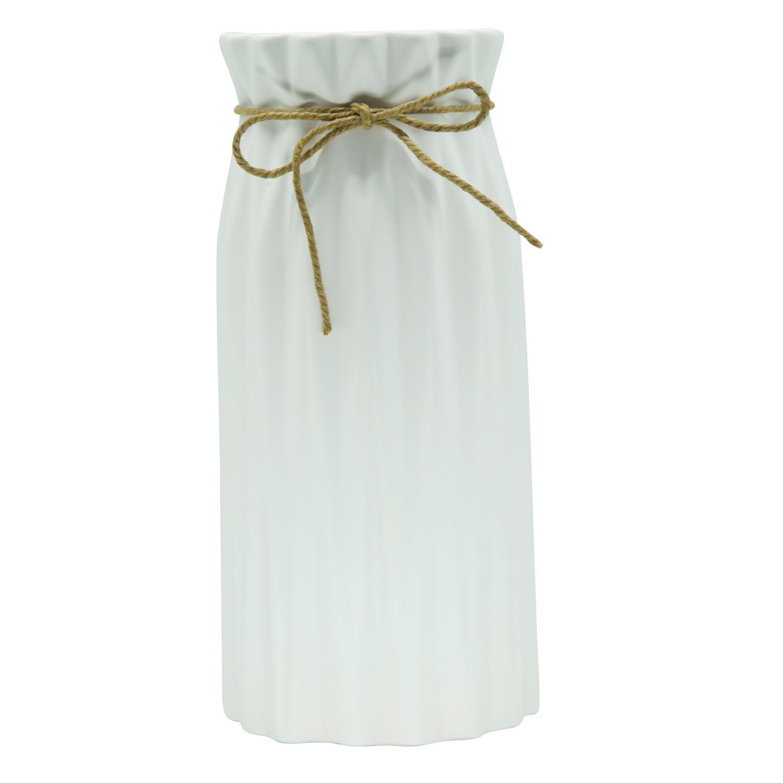 7 cm D Deko Vase CRINKLE small H Übertopf 8,5cm weiß rund Keramik Sandra Rich