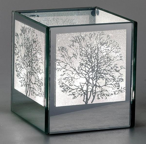 Deko Licht, Tisch Lampe MIRROR TREE H. 11cm 10x10cm Mit