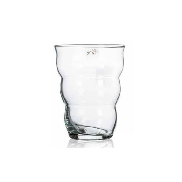 Dekoglas SPRING 2 H 13,5cm rund transparent Glas Sandra Rich 19cm D Glasvase