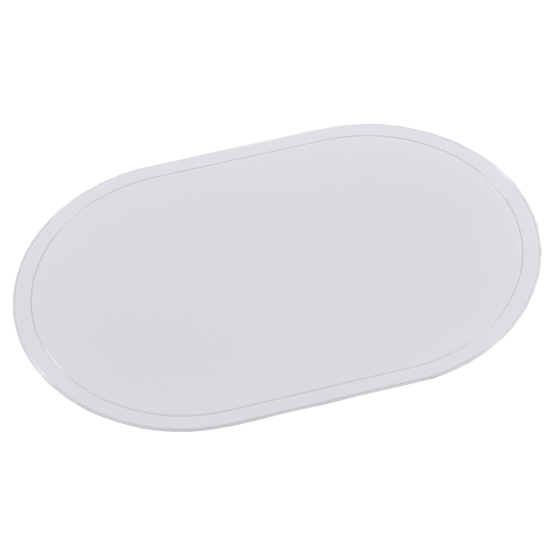 4x Platzset Tischset LEDEROPTIK creme beige 44x29cm Kunststoff Kesper
