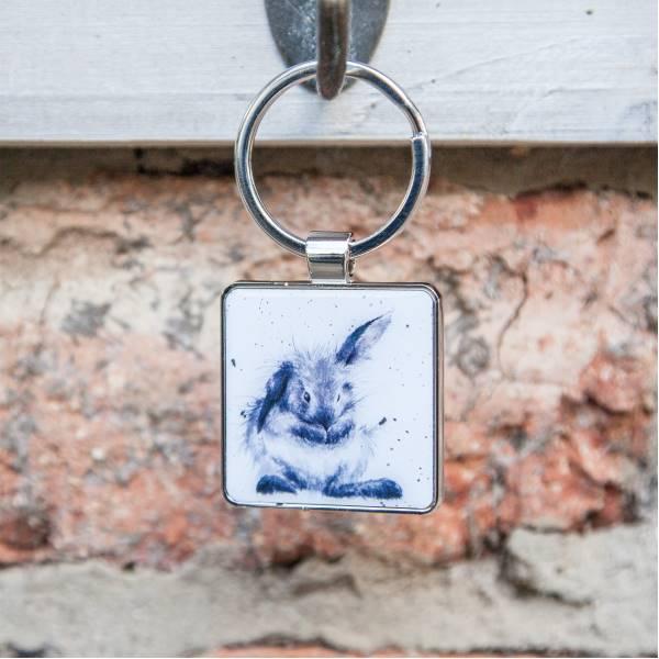 Schlüsselanhänger LETTUCE Meerschweinchen 4x4cm Metall silber Wrendale Design