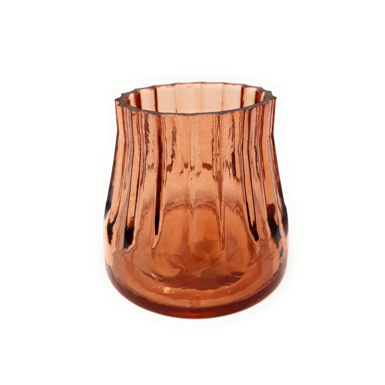 8cm Glas Sandra Rich 2er Set Teelichthalter GOLDEN NIGHT H 7cm D