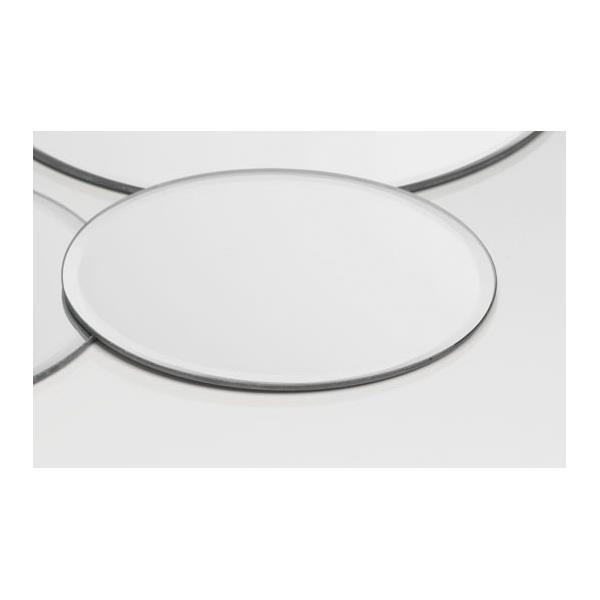 12er SET Spiegelplatten 30cm Sandra Rich Deko Tischspiegel MIRROR rund D